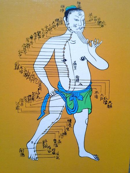 Kineski prikaz meridijana i akupunkturnih tačaka